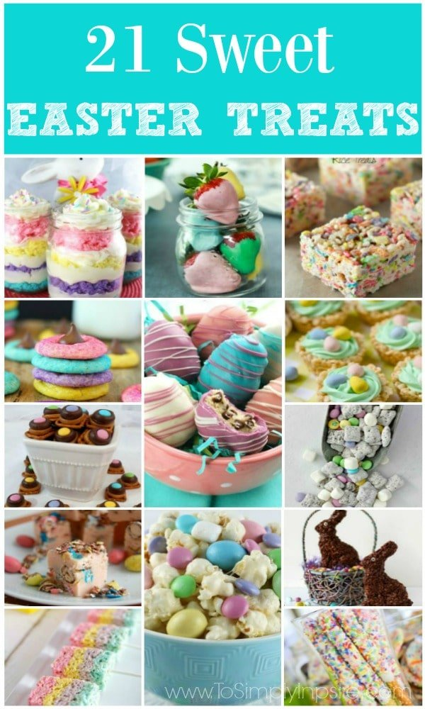 Collage picture of 13 different Easter Treats recipe ideas