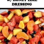 closeup of fruit salad recipe
