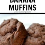 two chocolate banana muffins