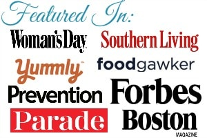 featured in Southern Living, Woman's Day, Parade, Prevention, Foodgawker and Yummly, among others