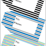Free Printable Gift Tags with Stripes