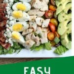Cobb Salad Recipe with text overlay