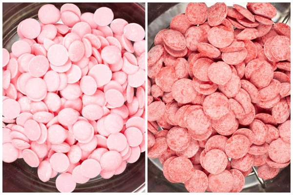 pink and red candy melts in an instant pot