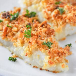 cod fillet with crispy parmesan breadcrumb topping