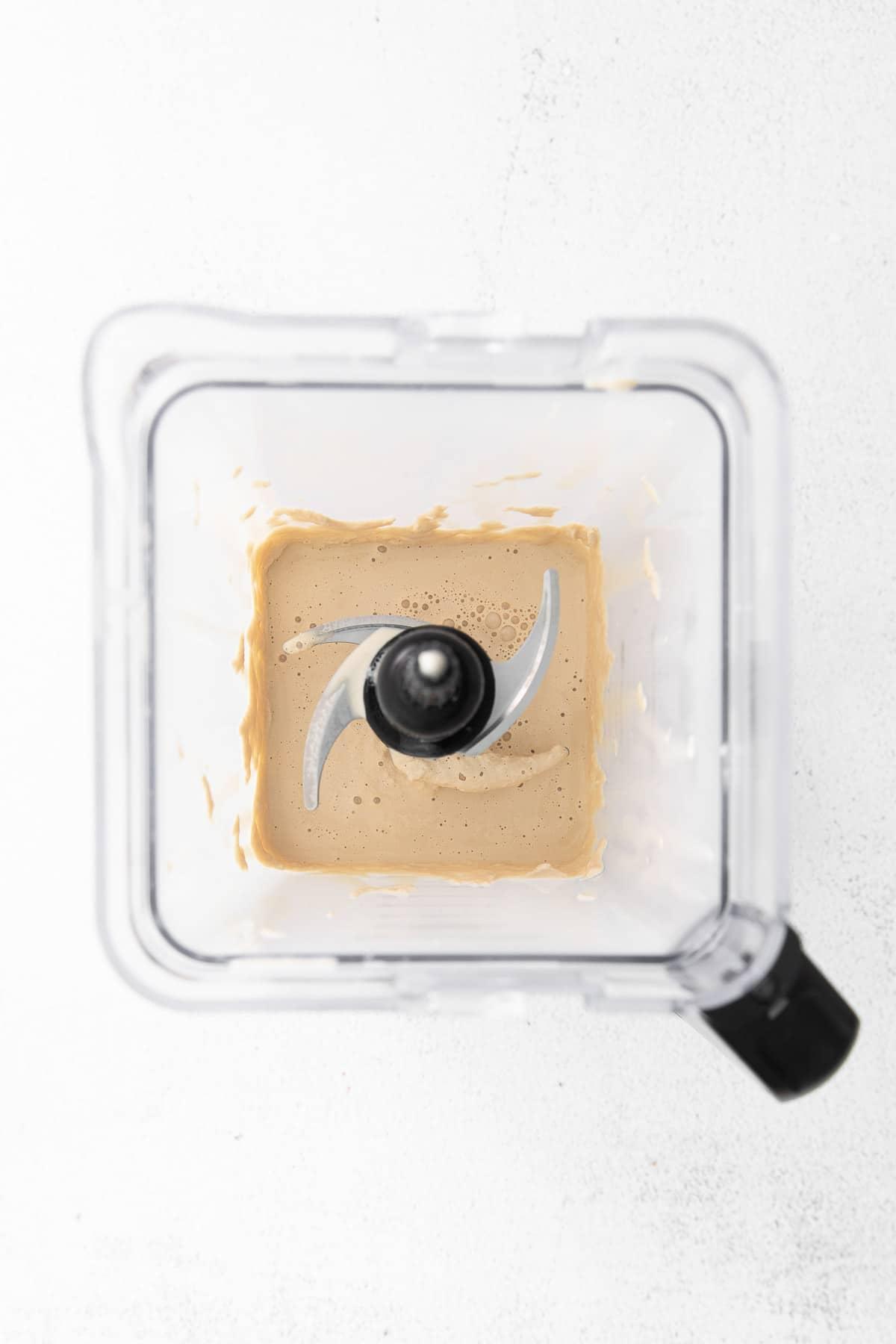 coffee milkshake in a blender