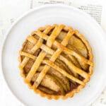 mini apple tart on a white plate